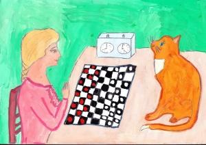 Партия в шашки, Ермаченок Софья, 8 лет, Борисов, Беларусь